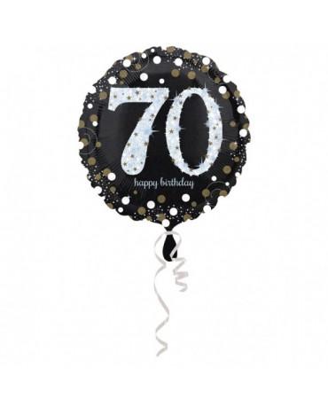 Fóliový balón číslo 70- zlatý 43cm