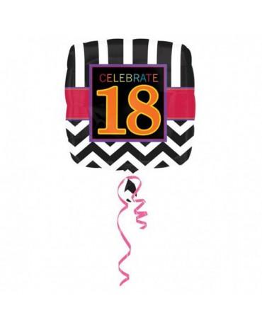 Fóliový balón Celebrate 18  43cm
