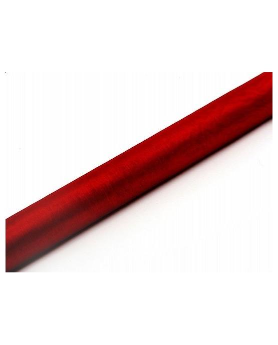 Organza - hladká červené víno 36cmx9m/P116