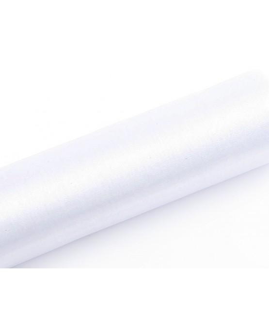 Organza - hladká biela 16cmx9m/P121
