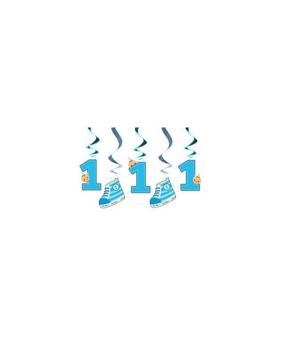 Špirály - k 1. narodeninám- modré 60cm 5ks/P146