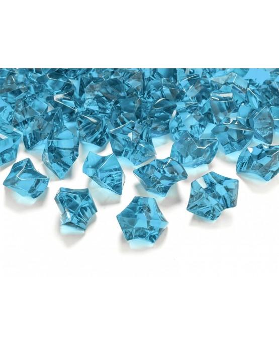 Dekor. -tyrkysový ľad 2,5x2,1cm 50ks