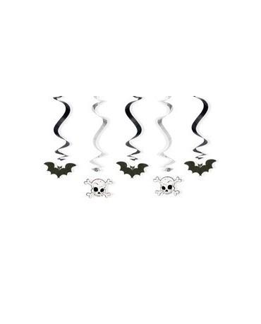 Špirály - netopiere a lebky 60cm 5ks