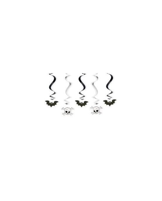 Špirály - netopiere a lebky 60cm 5ks/P61