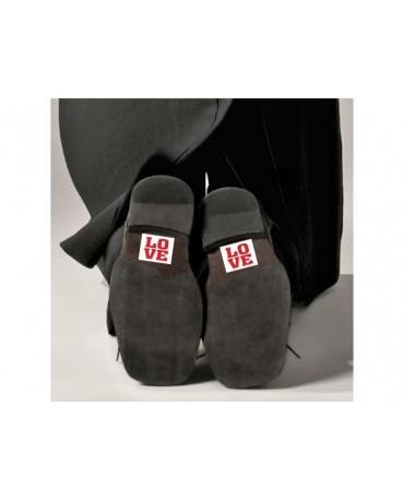 Nálepky na topánky Love 2ks