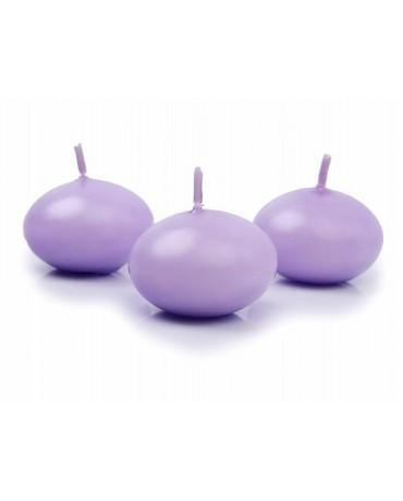 Sviečky - plávajúce -fialové 4cm 10ks