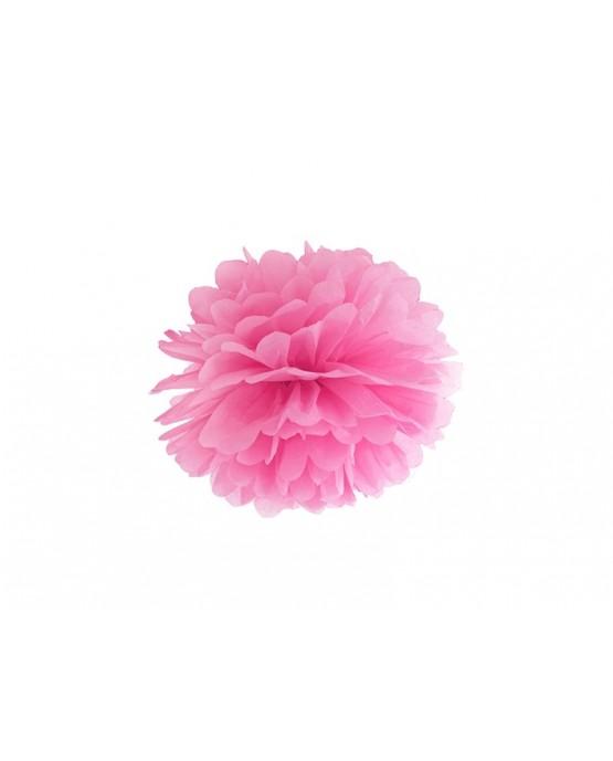 Visiaca dekorácia kvet - ružový 25cm 1ks/P4