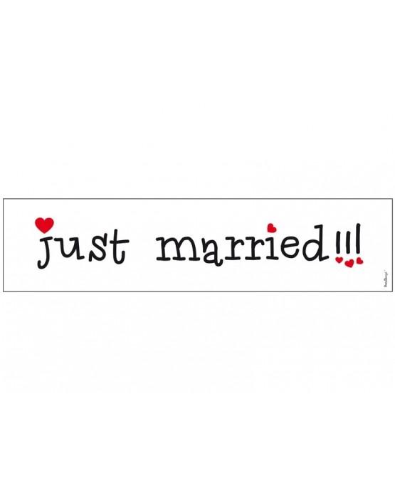 "Svad. dosky  ""Just  Married""-biele 10ks"