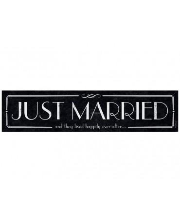 """Svadobné ŠPZ """"Just  Married""""- čierne-retro  10ks"""