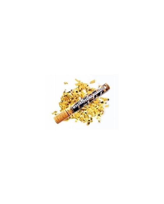 Konfety - metalické zlaté stuhy 40cm 1ks