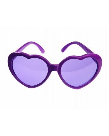 Okuliare - fialové srdcia