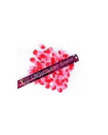 Konfety -ružové lupene ruží 80cm