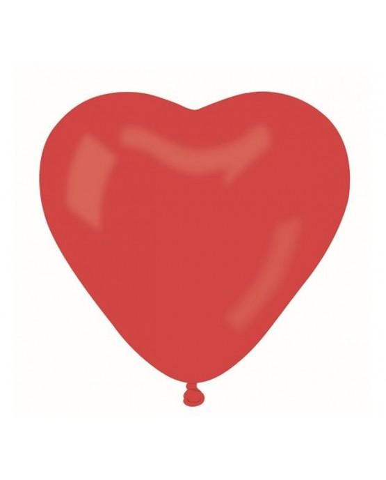 Latexový balónik srdce- červené 42cm 10ks/P7