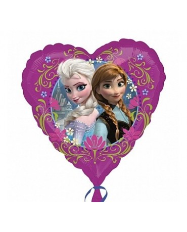 Fóliový balón srdce- sestry Frozen 47cm