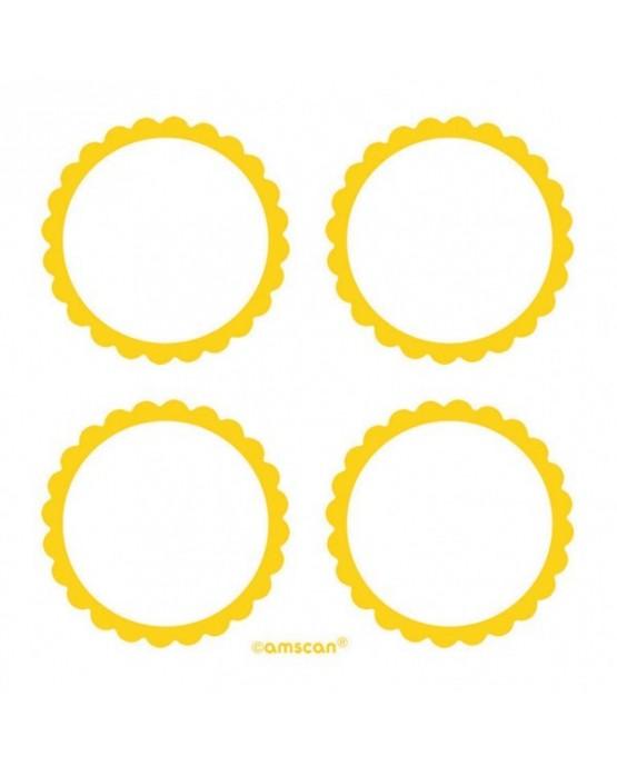 Štítky -žlté 5,1cm 20ks
