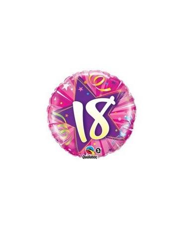 Fóliový balón číslo 18 -ružový 47cm