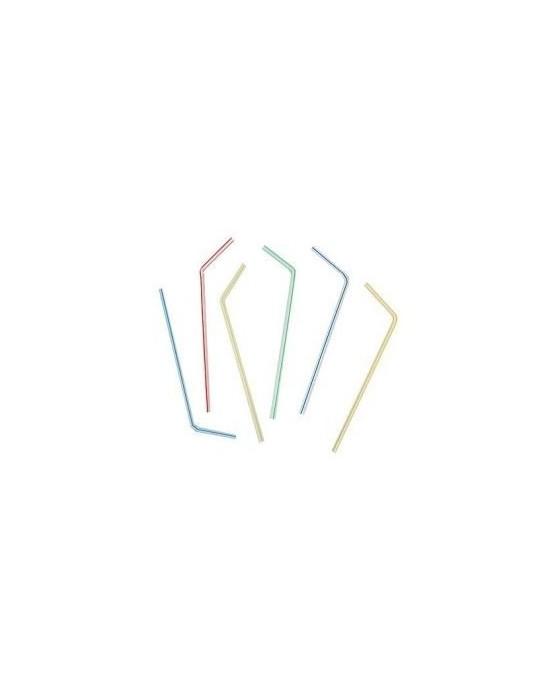Slamky - farebné s bielymi pásikmi 21cm 50ks/P96