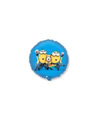 "Fóliový balón Mimoni - modrý 18"""