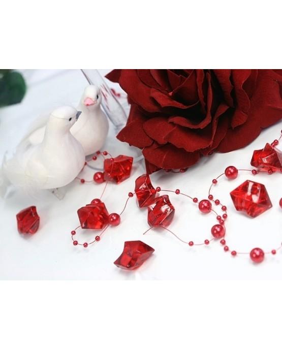 Dekor. -červený ľad 2,5x2,1cm 50ks