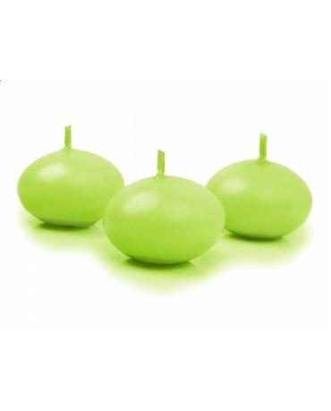 Sviečky- plávajúce- zelené 4cm 10ks