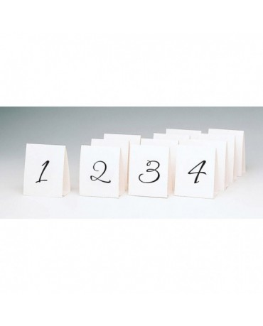 Tabuľky - čísla stolov 12,5 x10cm