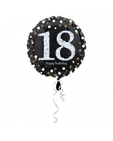 Fóliový balón číslo 18-zlatý 43cm