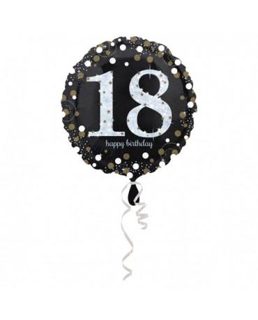Fól. balón č.18 -zlatý 43cm