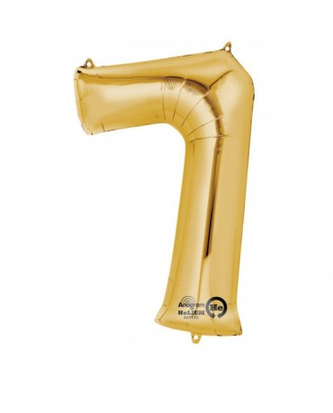 Fóliový balón číslo 7-zlatý 58x88cm