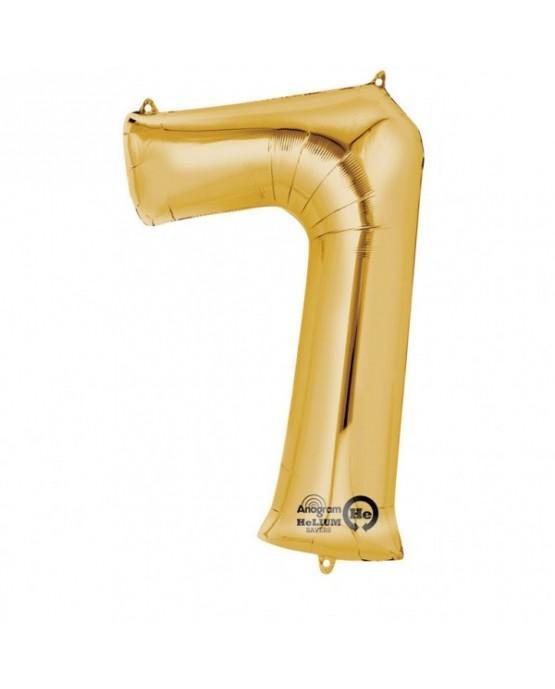 Fól. balón č. - 7 zlatý  58x88cm