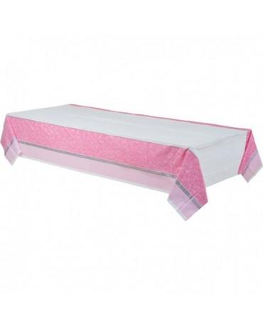 Obrus krst - ružový