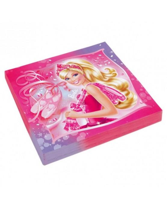 Servítky Barbie Pink Shoes 33x33cm 20ks