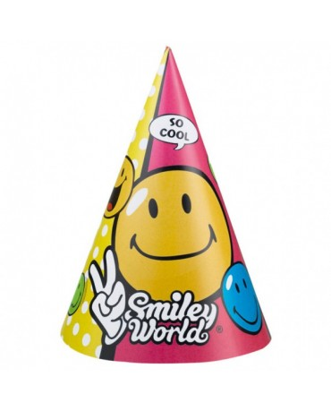 Klobúčiky Smiley World 6ks