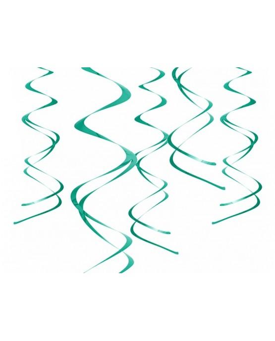 Špirály -tmavšie zelené 60 cm - 5ks