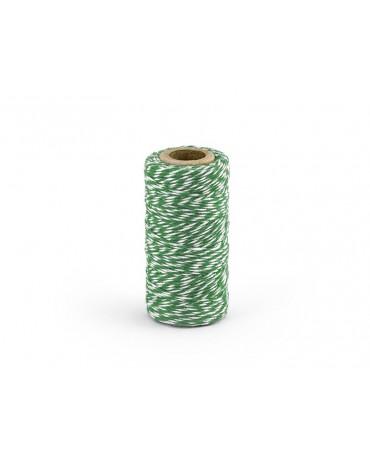 Šnúrka -bielo-zelená 50m