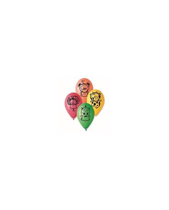 Latexové balóniky zvieratiek 10ks 30cm/P38