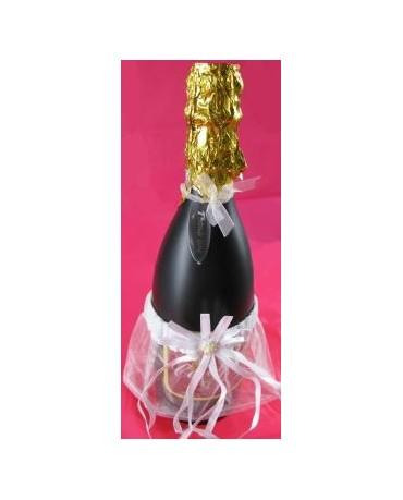 Dekorácia na flašu - suknička
