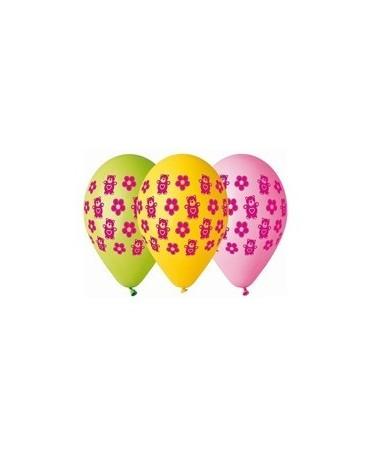 Latexové balóny macko a kvety 30cm 10ks