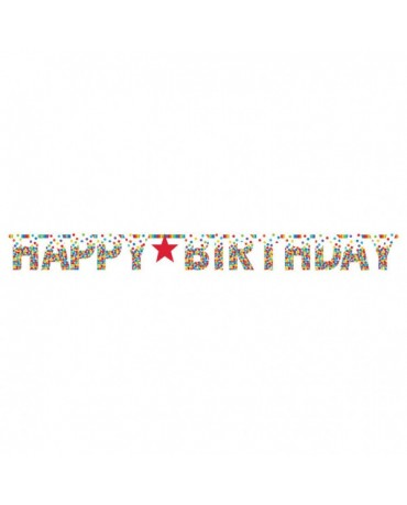 Banner Happy Birthday - farebné bodky 3,35m