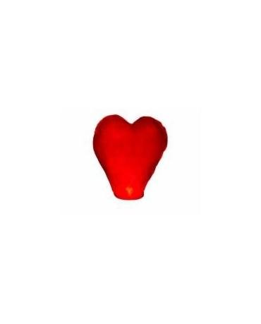 Lampion štastia-červené srdce 1ks