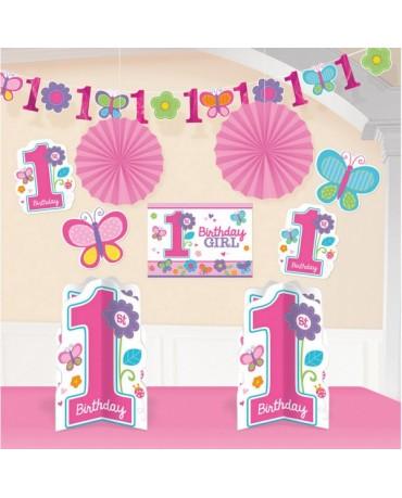 Sada ozdôb 1st Birthday girl 10ks