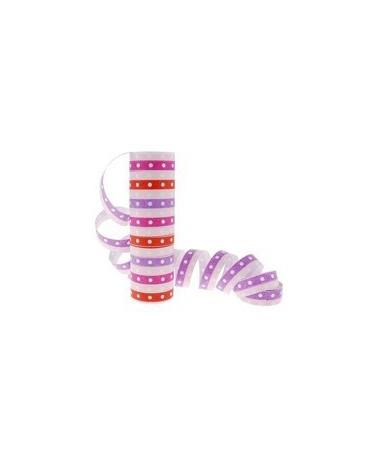 Serpentíny - bodky a pruhy ružovo-červené 4 m - 1 ks/P111