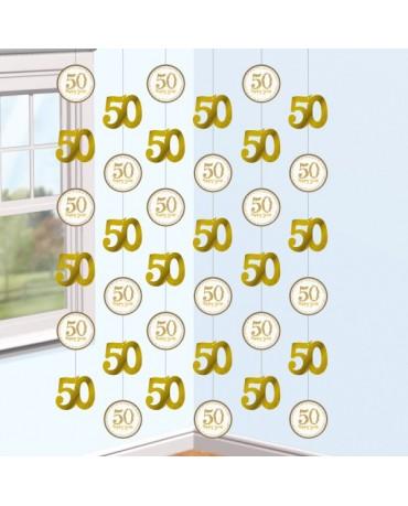 Dekoračný pás- číslice 50  6ks
