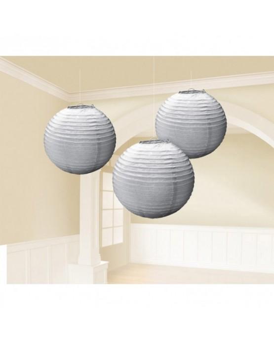 Dekorácia- lampión- strieborný 24,1cm 3ks
