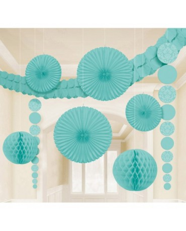 Modrý set dekorácií 9ks