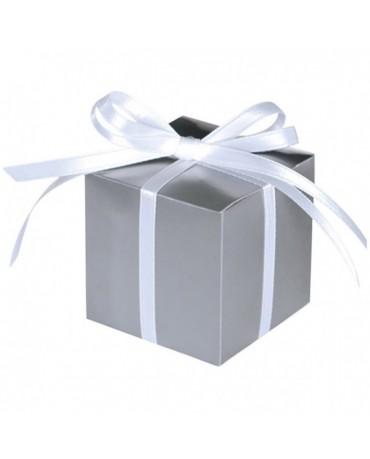 Škatuľka - strieborná 5,7cm 100ks