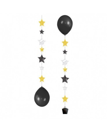 Záves na balóniky - hviezdy 3ks