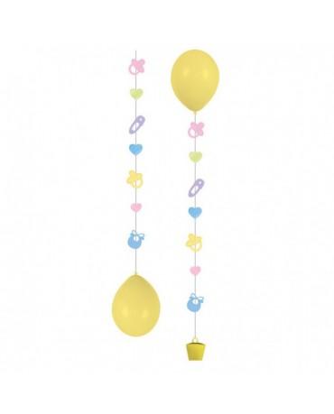 Záves na balóniky - detský 3ks