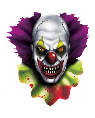 Dekorácia - strašidelný klaun 38cm