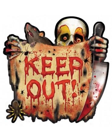 Dekorácia - Klaun- Keep out! 26cm