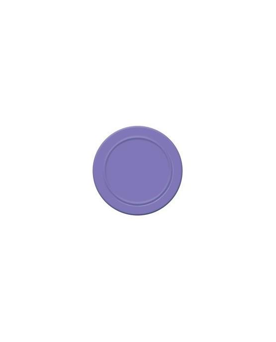 Papierové tanieriky - levandulovo fialové 18 cm - 6 ks/P104
